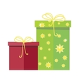 Gift Boxes Icon in Flat Style Design vector image vector image