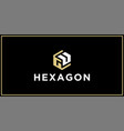 gu hexagon logo design inspiration vector image vector image