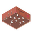 gym isometric vector image vector image