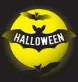 halloween and moon vector image