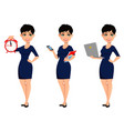 happy modern business woman with short haircut vector image