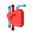 heart human sign organ man vector image vector image