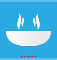 hot dish icon different color vector image