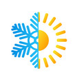 hot sun and frost snowflake business logo stock vector image