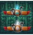 Jungle shamans GUI boosters air and water vector image