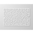 labyrinth maze symbol shape vector image vector image