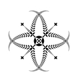 Laurel wreath tattoo Cross sign on white vector image