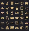 message icons set simple style vector image vector image