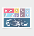 modern concept car composition vector image