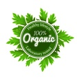 Organic round logo sign label vector image vector image