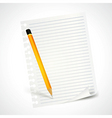 pencil and note sheet vector image
