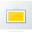 Picture Frame Mockup vector image vector image