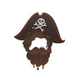 pirate beard photo booth prop costume vector image vector image