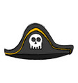 pirate hat isolated vector image vector image