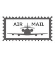postage stamp template vector image vector image