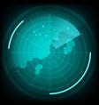 radar interface future vector image vector image