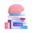 reading and improving knowledge concept flat vector image vector image