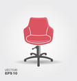 retro barber chair icon on white background vector image vector image