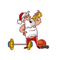 santa claus drinking water resting after workout vector image vector image