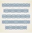 seamless islamic border vector image vector image