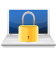 Security concept with padlock and laptop vector image vector image