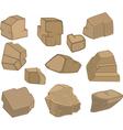 Set of Stones Rock elements vector image