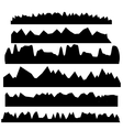 Silhouettes of Mountains vector image vector image