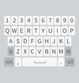 smartphone keyboard white realistic mobile phone vector image vector image