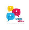 social media communication logo design message vector image
