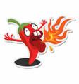 spicy chili sticker concept vector image