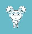 sticker emoji emoticon emotion boredom vector image vector image