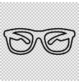 Sunglasses sign Line icon vector image vector image