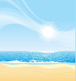 sunny day at beach vector image vector image