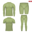 Thermal underwear layer compression set vector image vector image