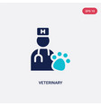 two color veterinary icon from health and medical vector image