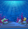 undersea world in blue theme vector image vector image