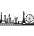 view from london day vector image