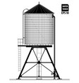 water tower on roa building in new york vector image vector image
