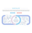 website banner and landing page sweets vector image