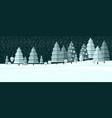 winter wonderland night background vector image vector image