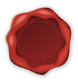 wax stamp in red vector image
