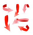 Abstract 3d Red Arrows Set vector image vector image