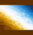 abstract blue yellow background vector image vector image