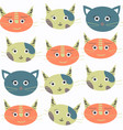 abstract cat seamless pattern it is located in vector image
