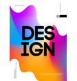 abstract gradient banner template vector image