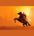 ancient chinese warrior guan yu vector image