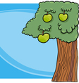 apple tree cartoon vector image