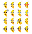 banana emoji emoticon expression funny cute food vector image