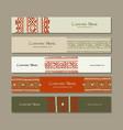 banners design folk ornament vector image vector image