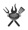 barbecue roast logo template badge design isolated vector image vector image
